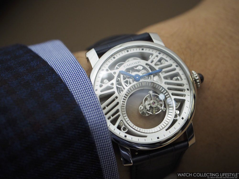 Rotonde de Cartier Skeleton Mysterious Double Tourbillon Wristshot