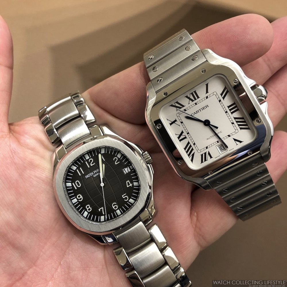 fc4a0ad71e2d SIHH 2018  New Santos de Cartier Large and Medium Size. Fitted with ...