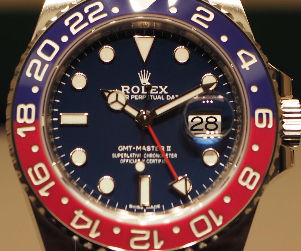 Rolex GMT Master II White Gold ref. 116719BLRO