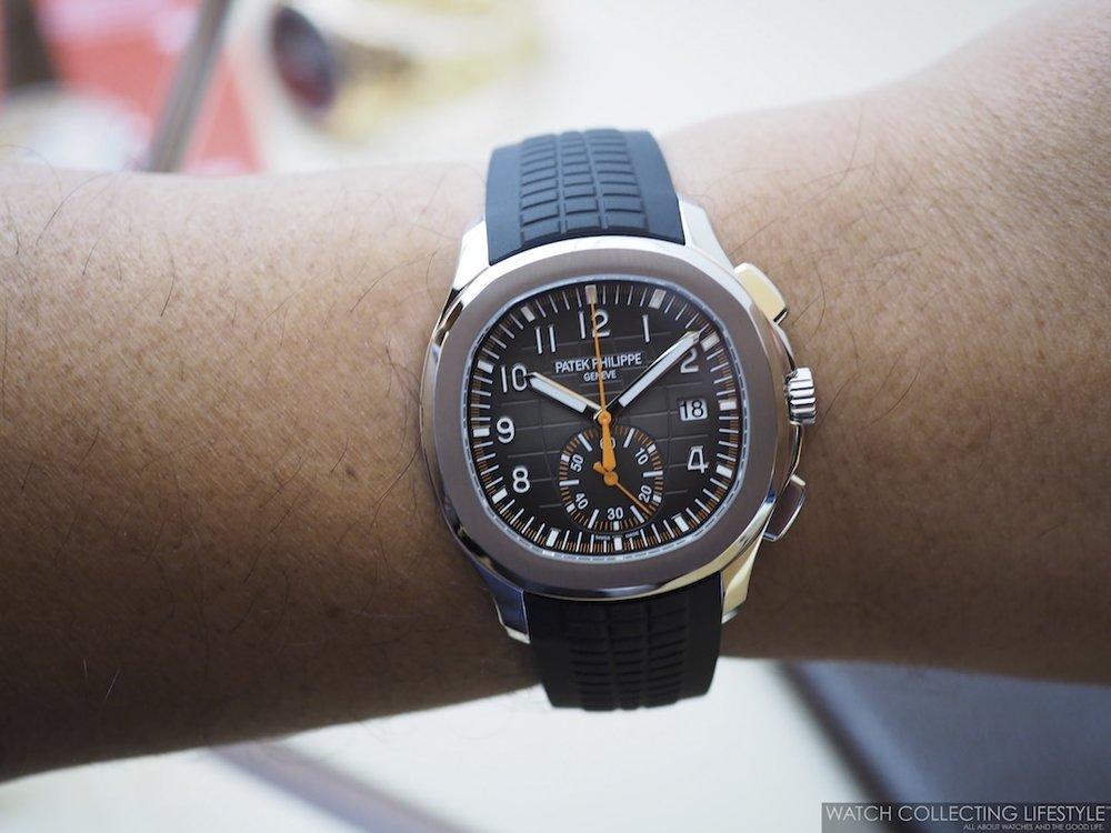 Patek Philippe Aquanaut Chronograph ref. 5968 Wristshot