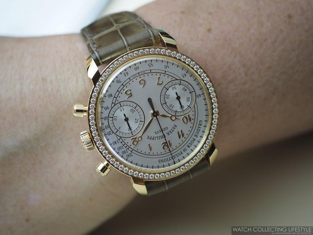 Patek Philippe Ladies' Chronograph ref. 7150/250R Wristshot
