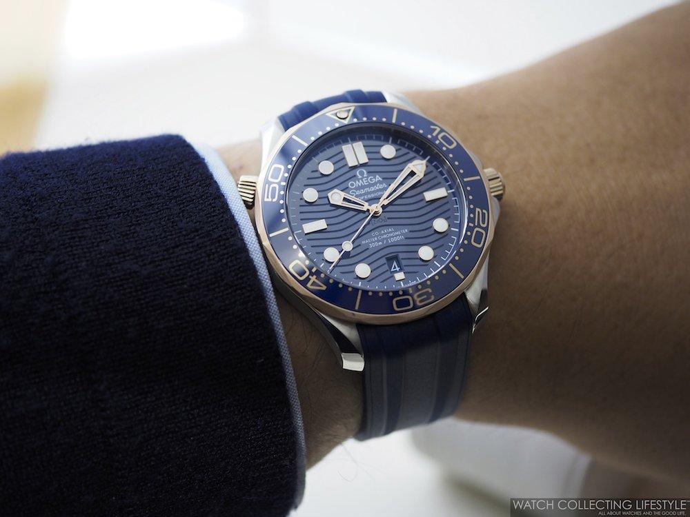 Omega Diver 300M Wristshot