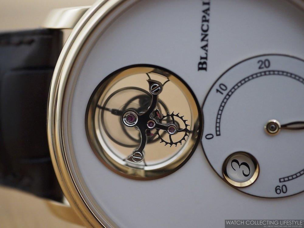 Blancpain Flying Tourbillon Jumping Hours Retrograde Minutes WCL Macro