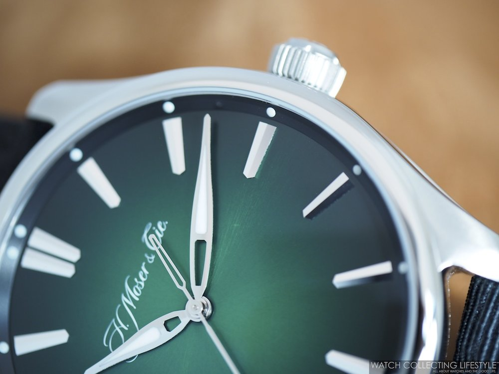 H. Moser & Cie. Pioneer Center Seconds Cosmic Green