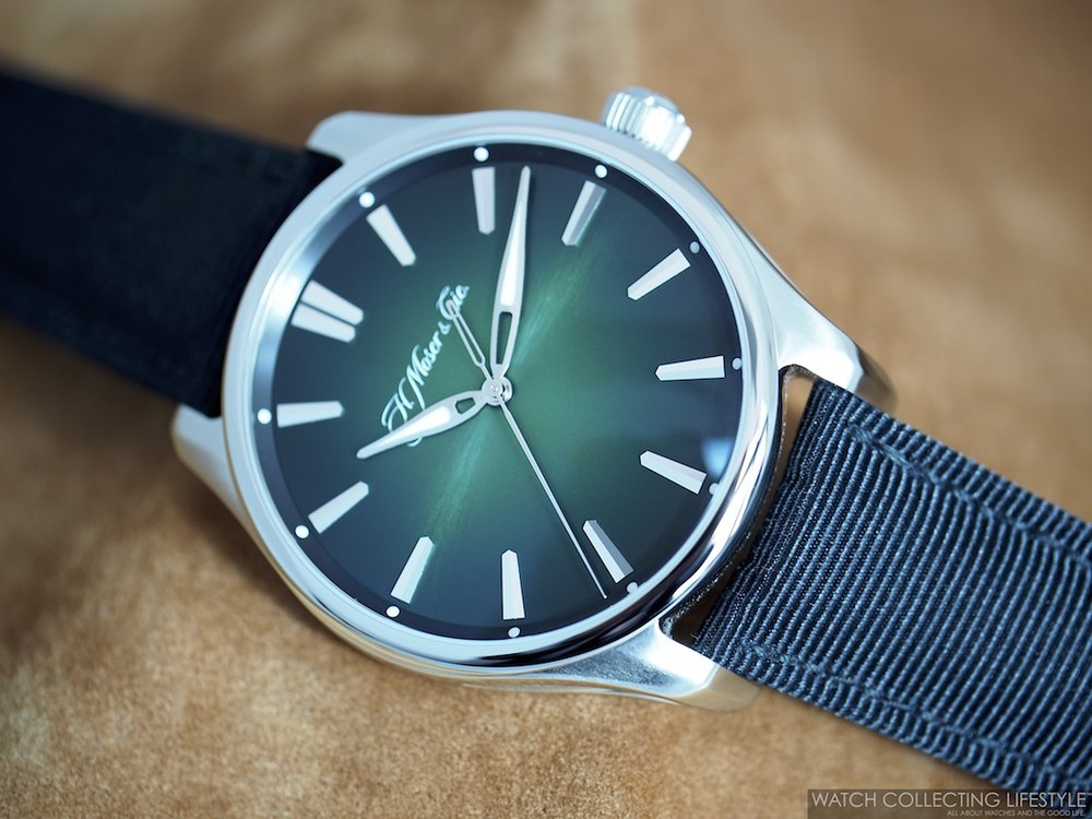 H. Moser & Cie. Pioneer Center Seconds Cosmic Green WCL