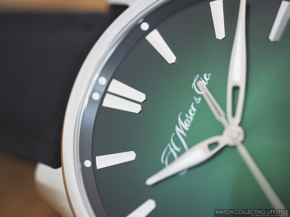 H. Moser & Cie. Pioneer Center Seconds Cosmic Green WCL 3
