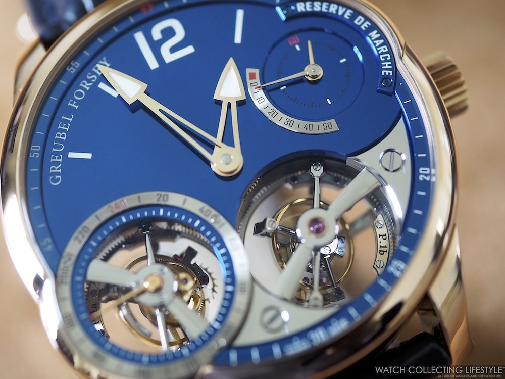 Greubel Forsey Quadruple Tourbillon Blue WCL Macro