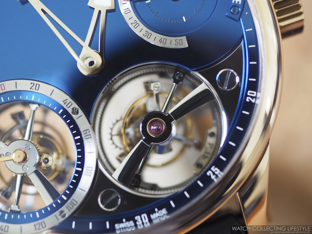 Greubel Forsey Quadruple Tourbillon Blue Black Polishing