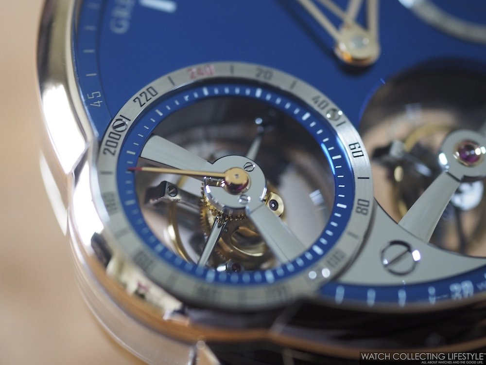 Greubel Forsey Quadruple Tourbillon Blue WCL Macro3
