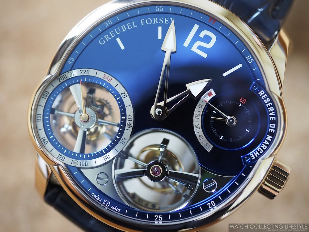 Greubel Forsey Quadruple Tourbillon Blue WCL Full