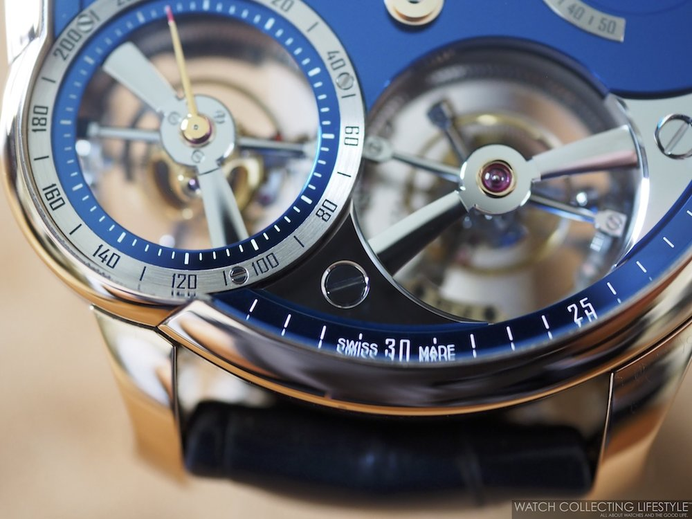 Greubel Forsey Quadruple Tourbillon Blue WCL Macro5
