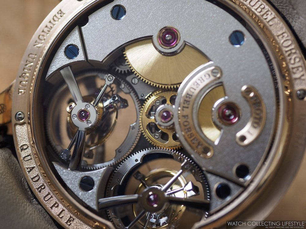 Greubel Forsey Quadruple Tourbillon Blue Movement
