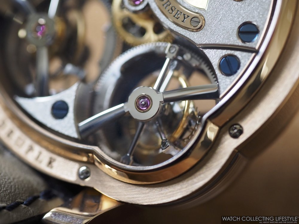 Greubel Forsey Quadruple Tourbillon Blue Macro Movement