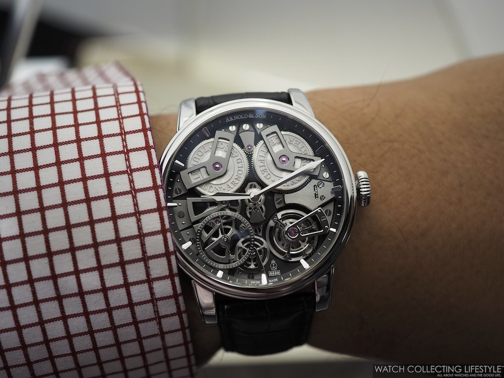 Arnold & Son Tourbillon Chronometer No. 36 Tribute Edition Steel Wristshot