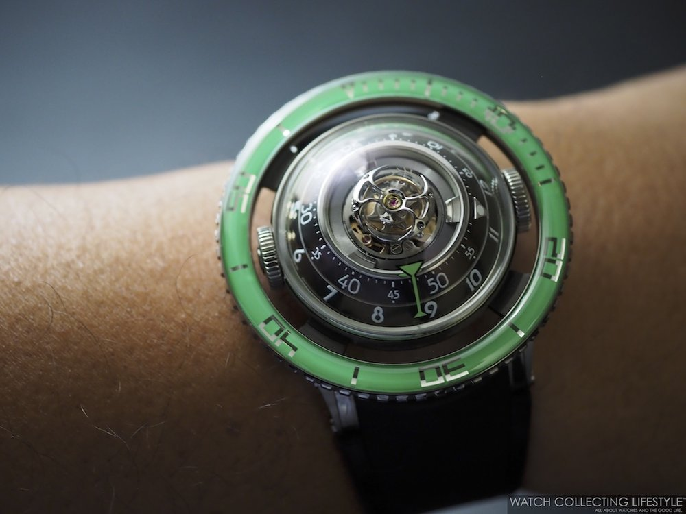 MB&F Horological Machine No. 7 HM7 Aquapod Green Wristshot