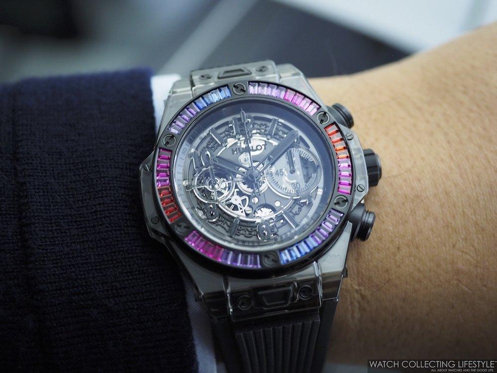 Hublot Big Bang Unico Sapphire Black Rainbow Wristshot