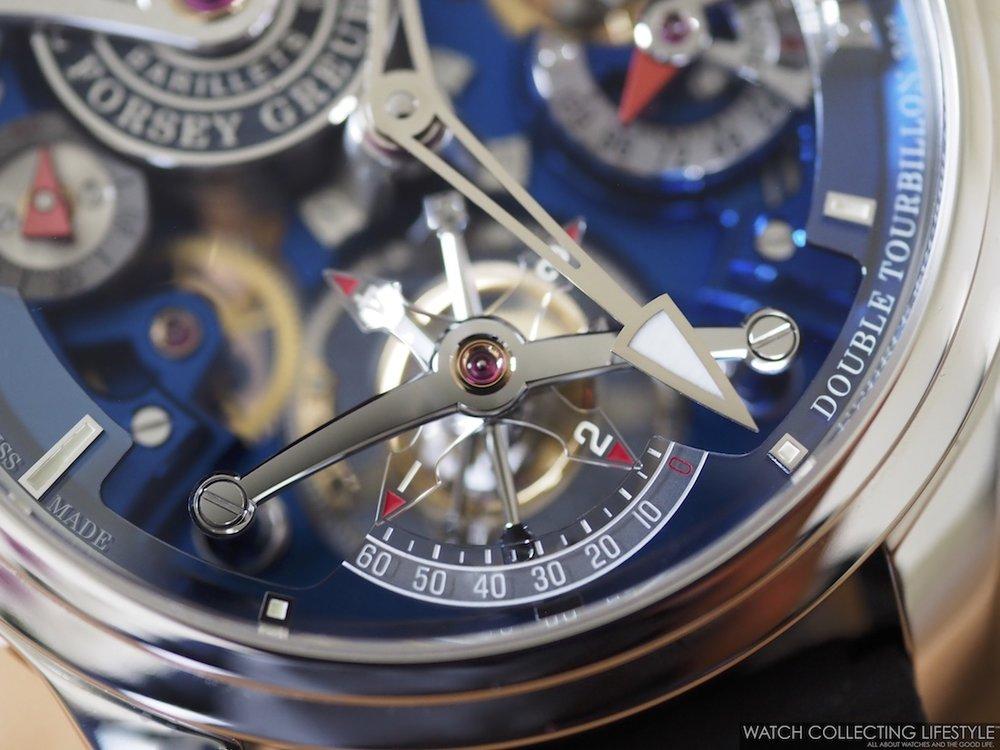Greubel Forsey Double Tourbillon Technique Blue Macro