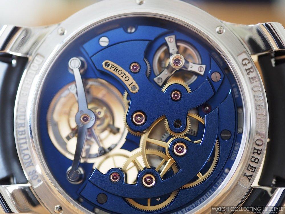 Greubel Forsey Double Tourbillon Technique Blue Movement