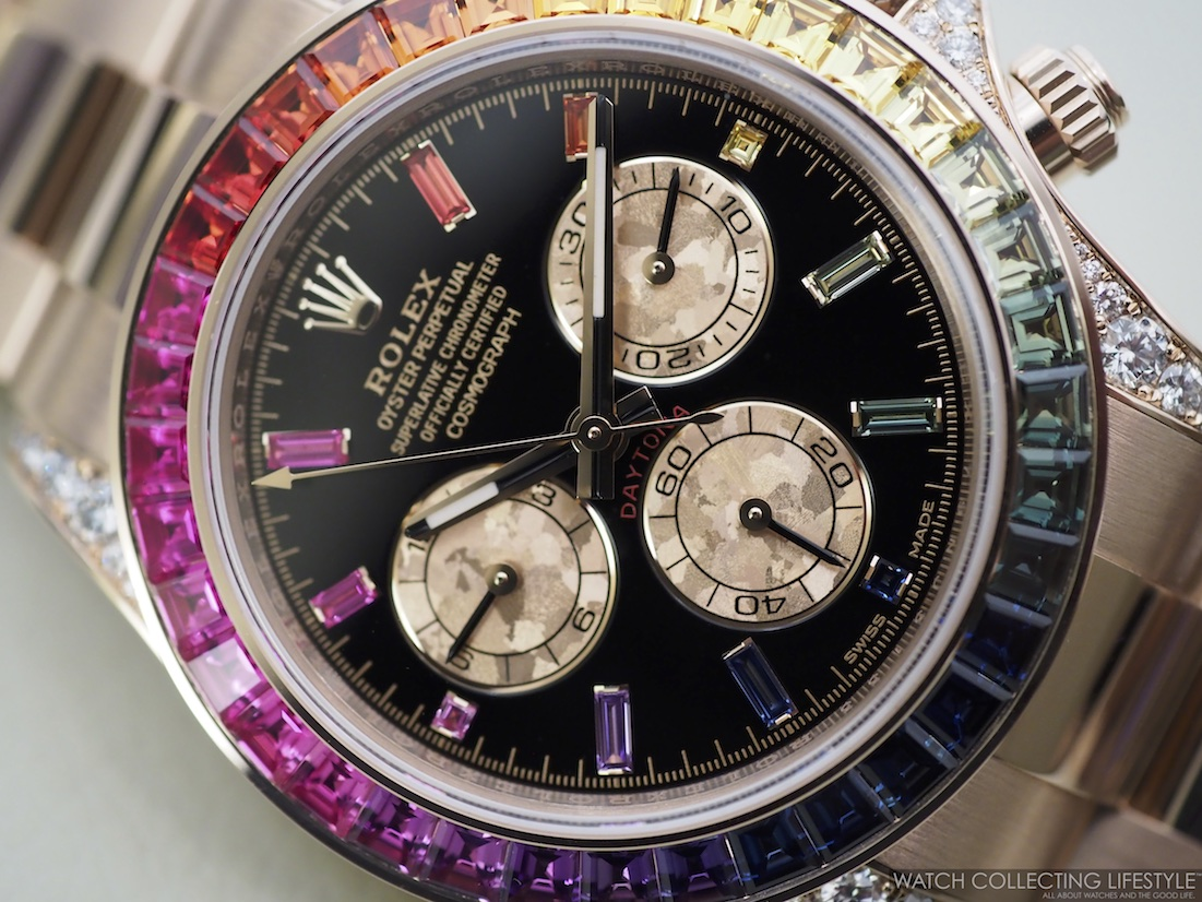 Eye Candy Rolex Cosmograph Daytona Everose Rainbow ref