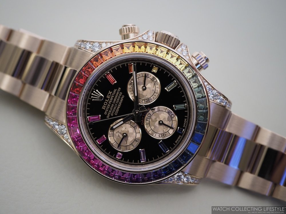 Rolex Cosmograph Daytona Everose Rainbow ref. 116595RBOW WCL