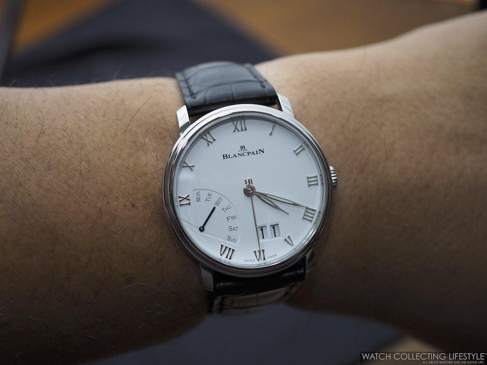 Blancpain Villeret Grande Date Jour Rétrograde WCL Wristshot