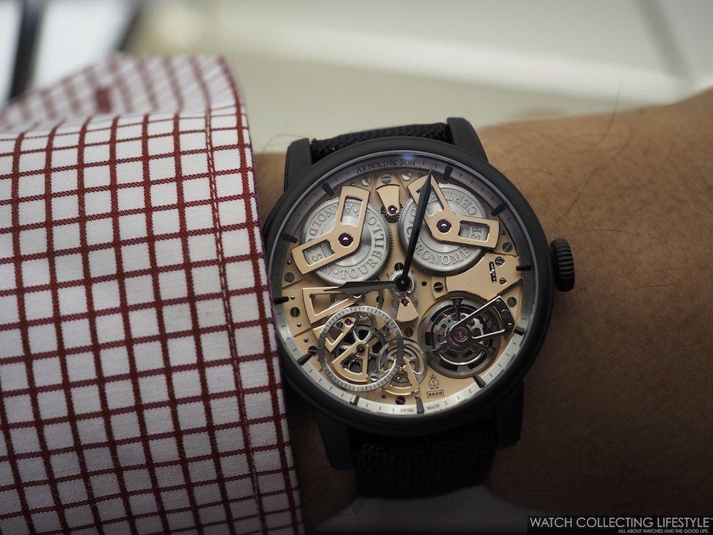 Arnold & Son Tourbillon Chronometer No. 36 Gunmetal Limited Edition Wristshot