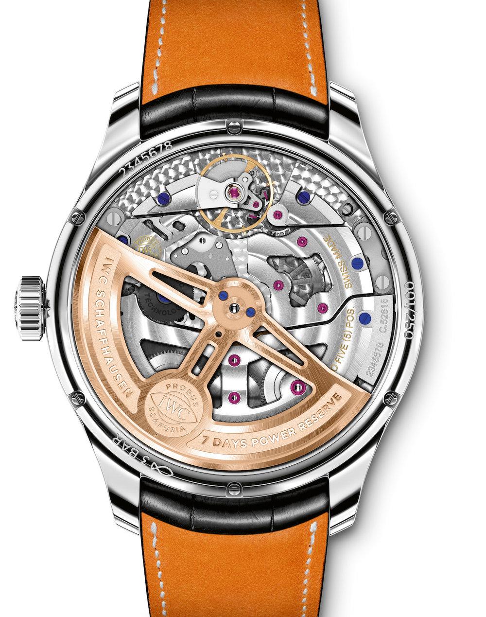 News Iwc Presents Two New Portugieser Watches A Perpetual Calendar 7 Days Slim Platinum Original 100 Ref Iw503406