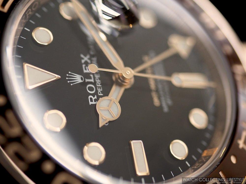 Rolex GMT Master II Everose Gold ref. 126715CHNR Macro