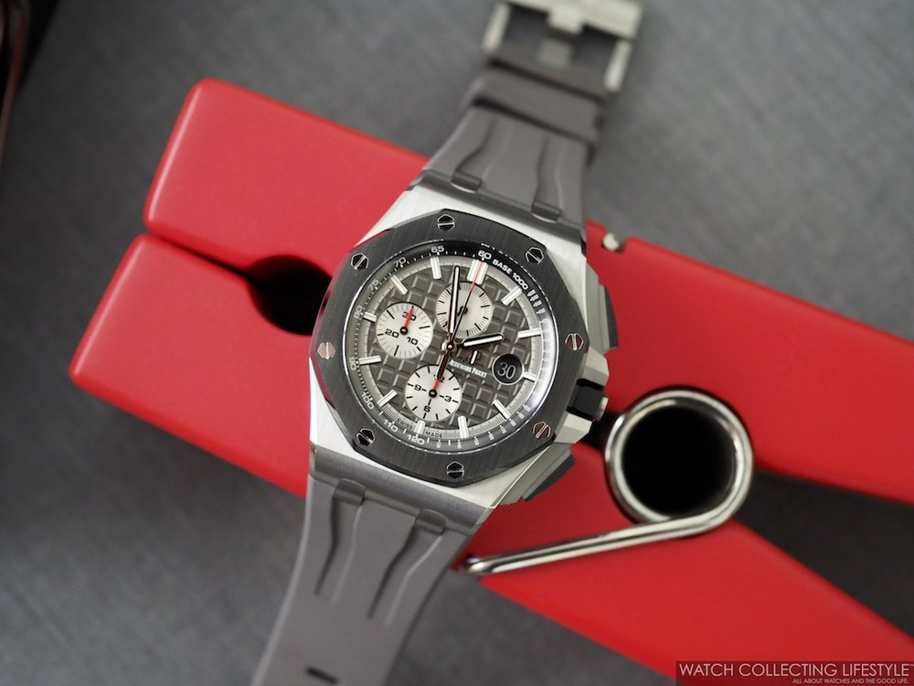 Audemars Piguet Royal Oak Offshore Chronograph 44 Titanium ref. 26400IO Closeup