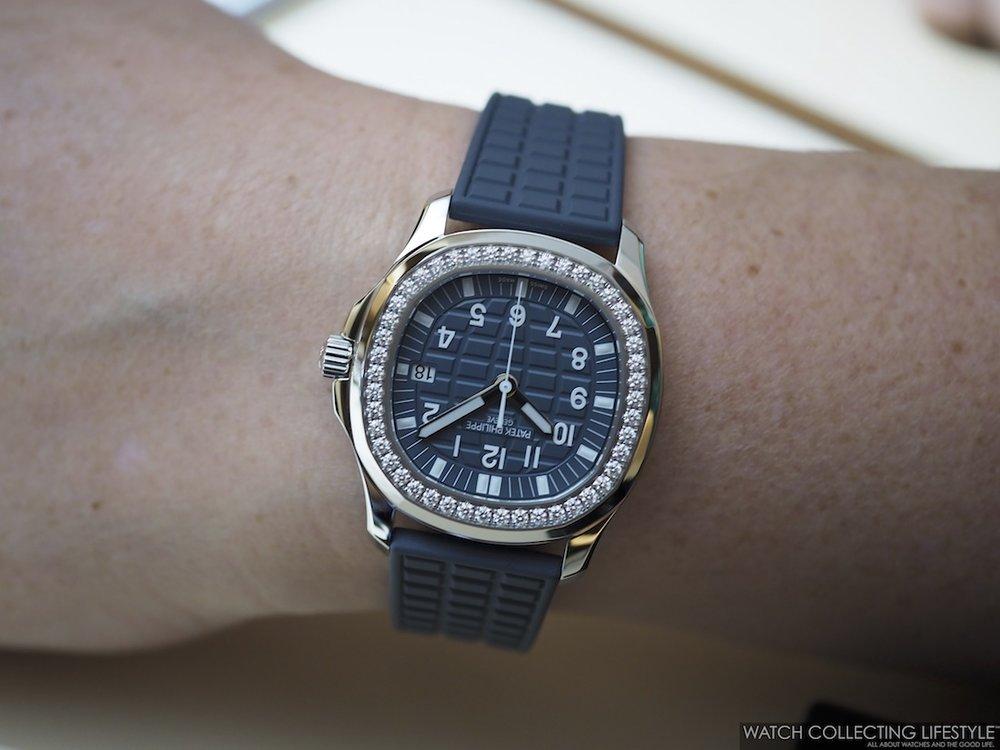 Patek Philippe Ladies Aquanaut Luce ref. 5067A Wristshot