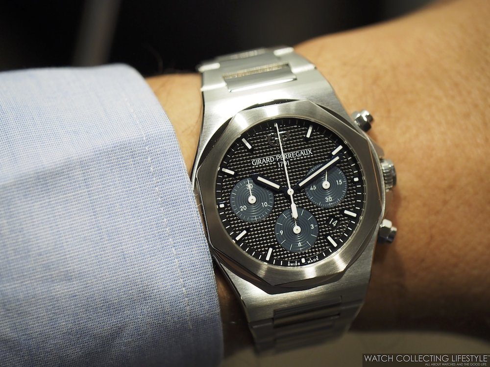 Girard-Perregaux Laureato Chronograph Wristshot2