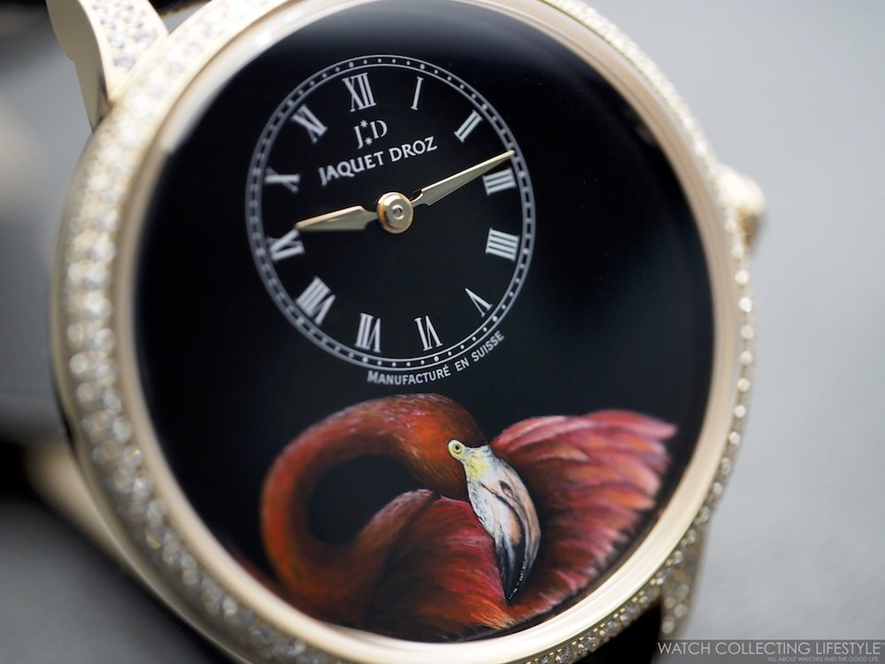 Jaquet Droz Petite Heure Minute Flamingo