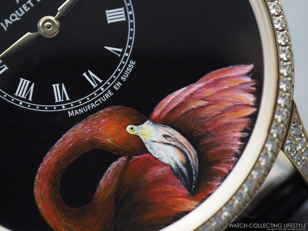 Jaquet Droz Petite Heure Minute Flamingo WCL3