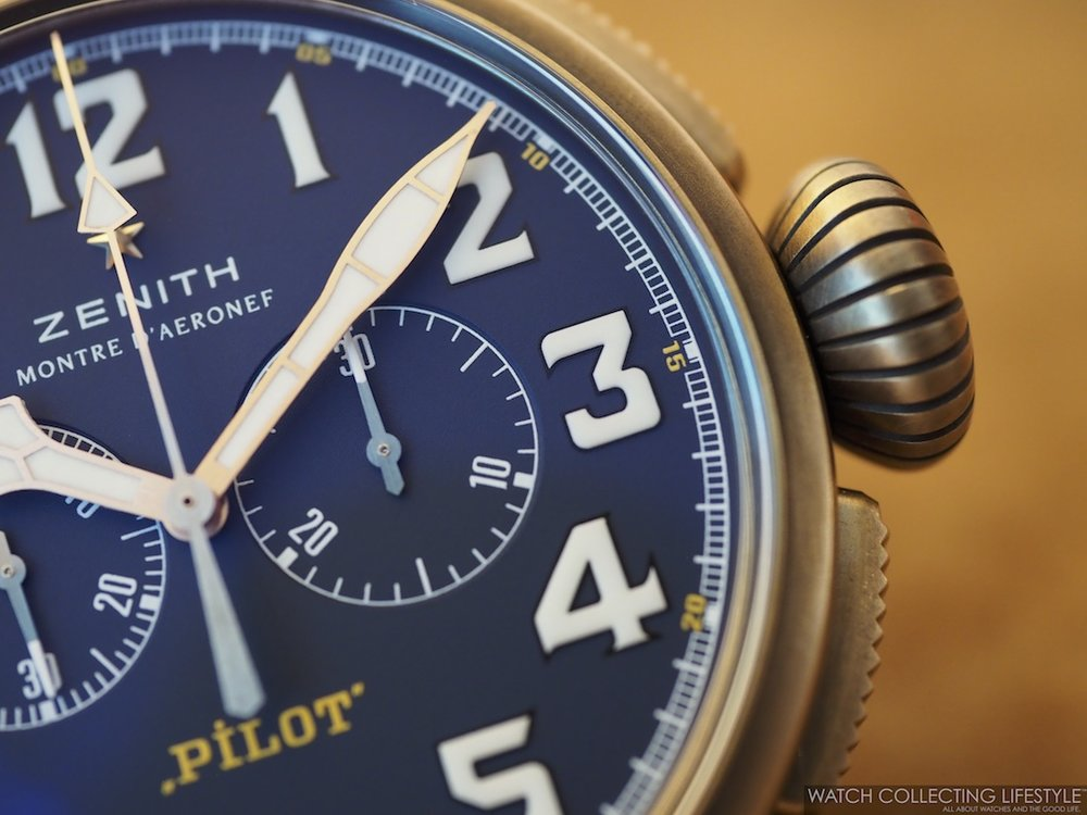 Zenith Pilot Type 20 Chronograph Extra Special Bronze Blue Dial WCL