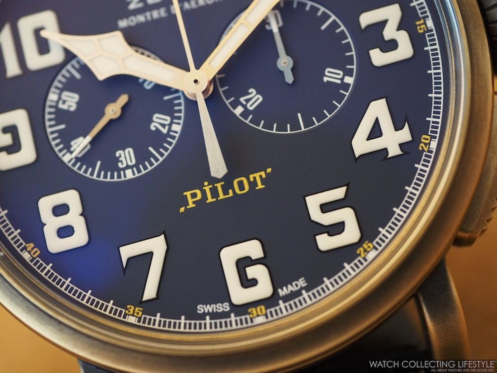 Zenith Pilot Type 20 Chronograph Extra Special Bronze Blue Dial WCL2