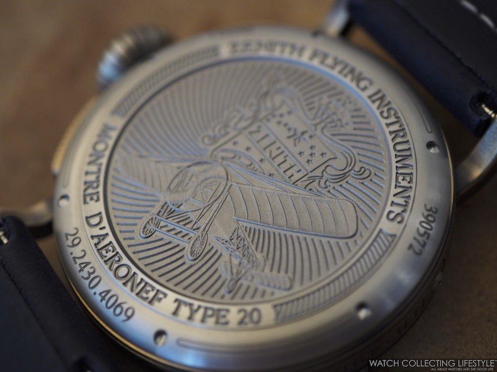 Zenith Pilot Type 20 Chronograph Extra Special Bronze Blue Case Back