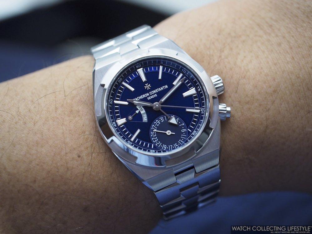 Vacheron Constantin Overseas Dual Time ref. 7900V Blue Wristshot