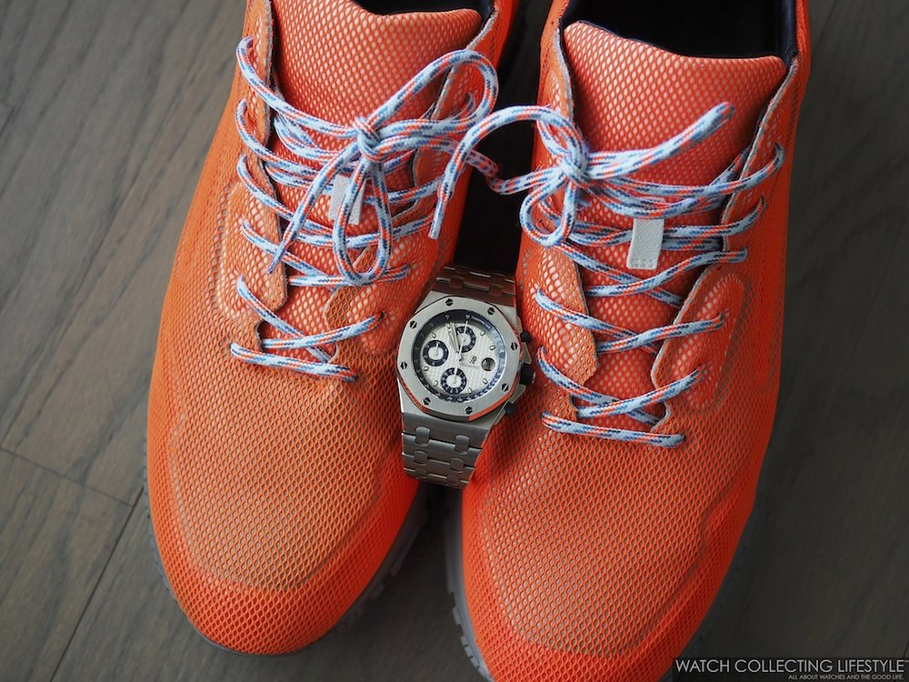Lanvin Mesh Cross-Trainer Sneakers with Royal Oak Offshore WCL