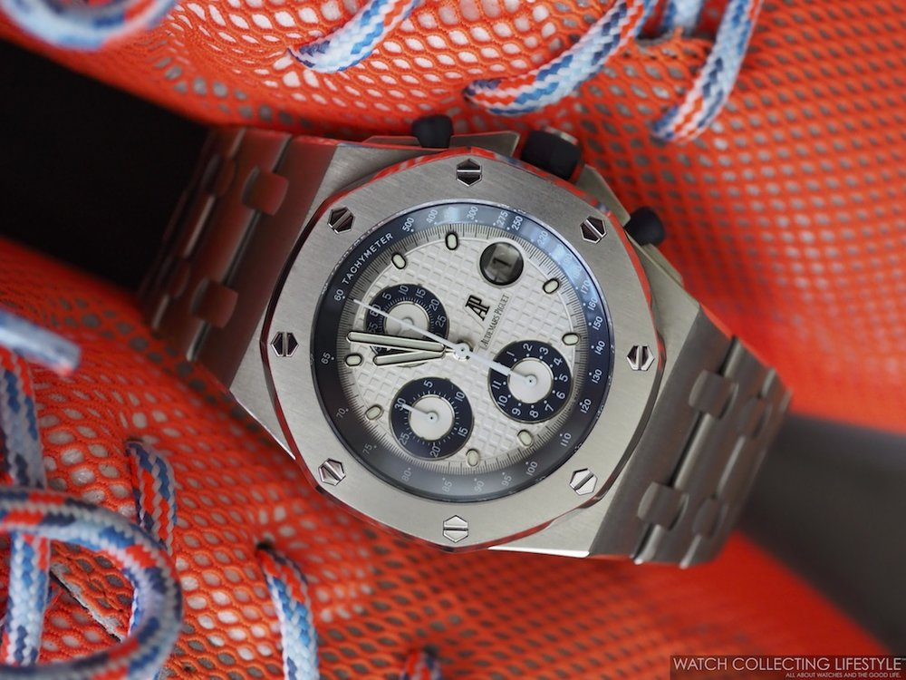 Lanvin Mesh Cross-Trainer Sneakers and Royal Oak Offshore ref. 25721TI