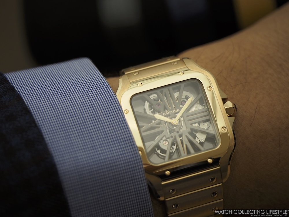 Santos de Cartier Skeleton Large WCL Wristshot