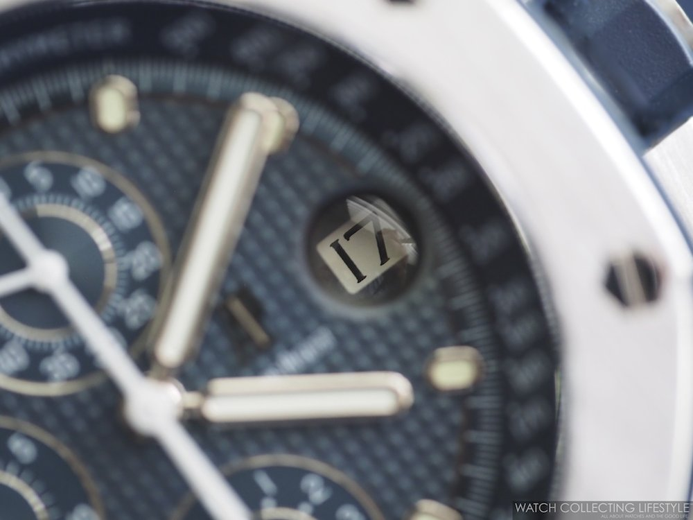 Calendar detail on Audemars Piguet Royal Oak Offshore 'The Beast' ref. 25721ST D-Series