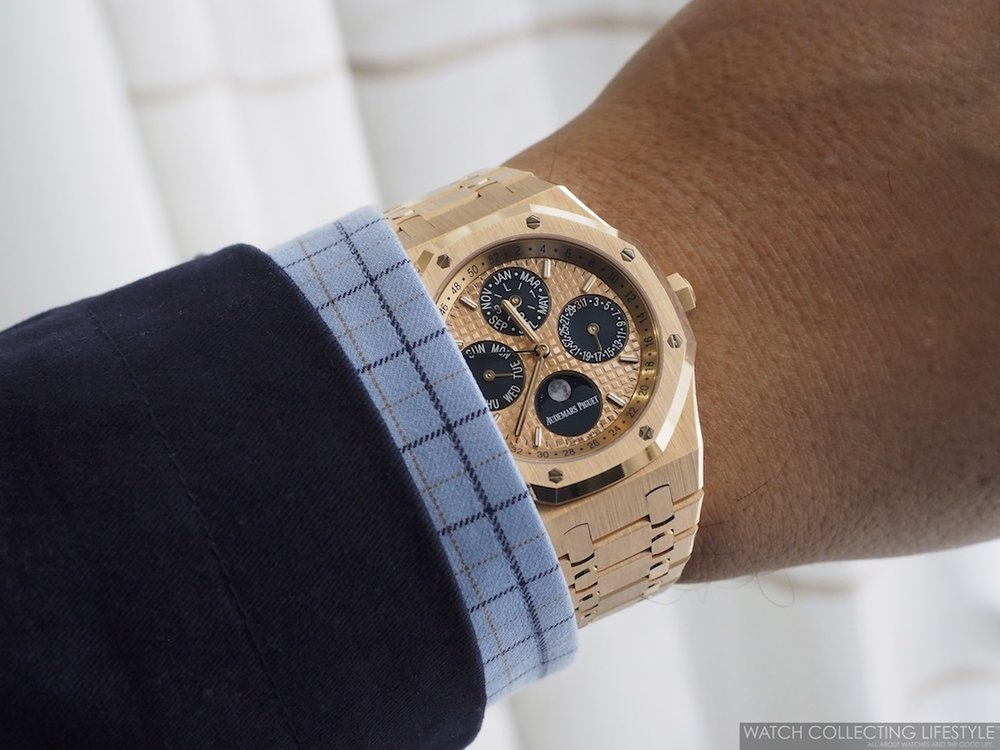 Audemars Piguet Royal Oak Perpetual Calendar ref. 26584OR Latin America Wristshot Bracelet WCL