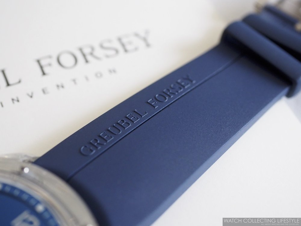 Greubel Forsey Blue Rubber Strap