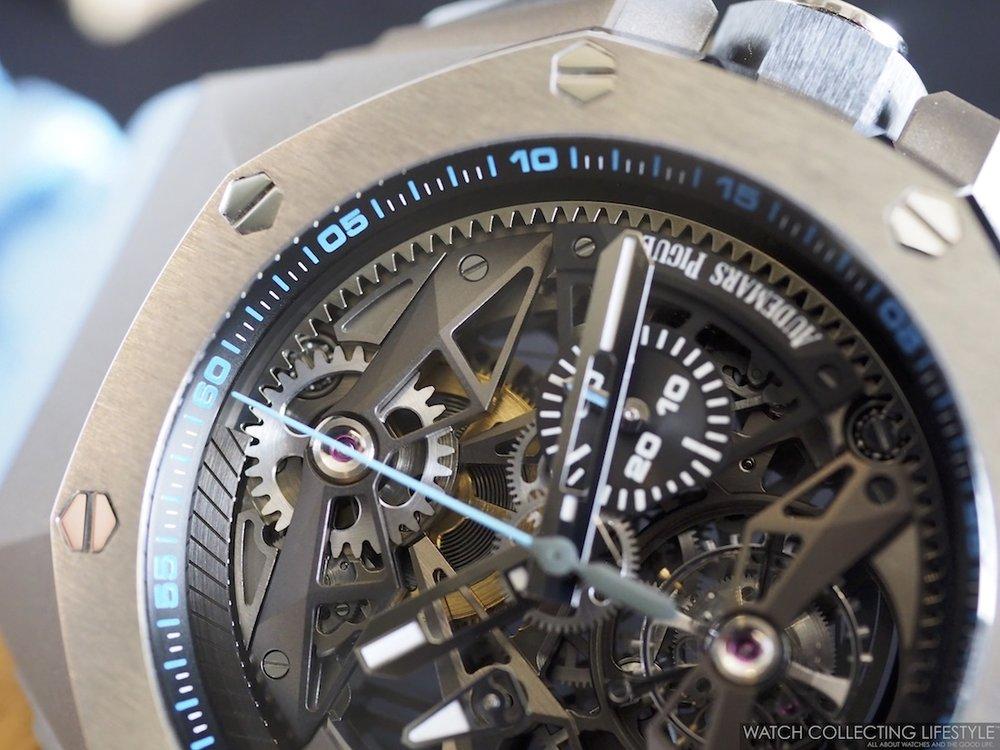 Audemars Piguet Royal Oak Concept Tourbillon Chronograph Openworked ref. 26587TI WCL Macro