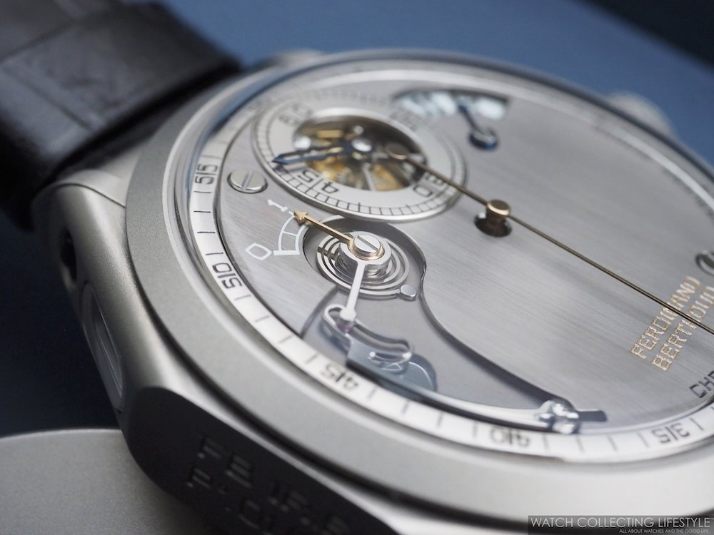Ferdinand Berthoud Chronomètre FB 1R.6-1 Cement Steel Power Reserve Indicator