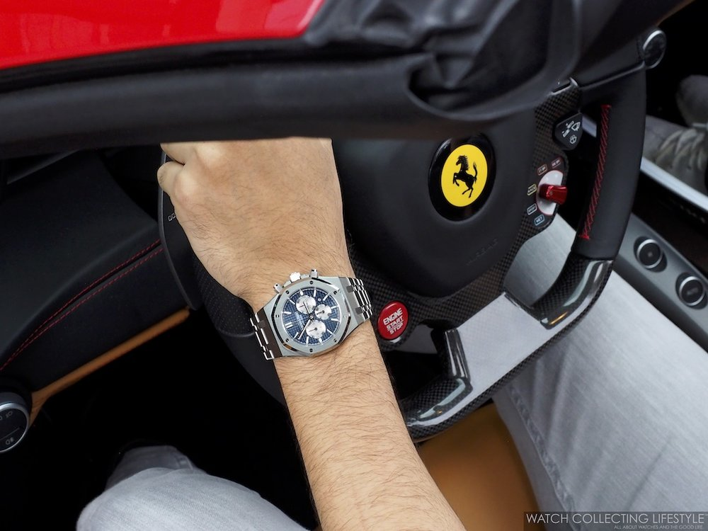 Ferrari 488 Spyder and AP Royal Oak Chrono