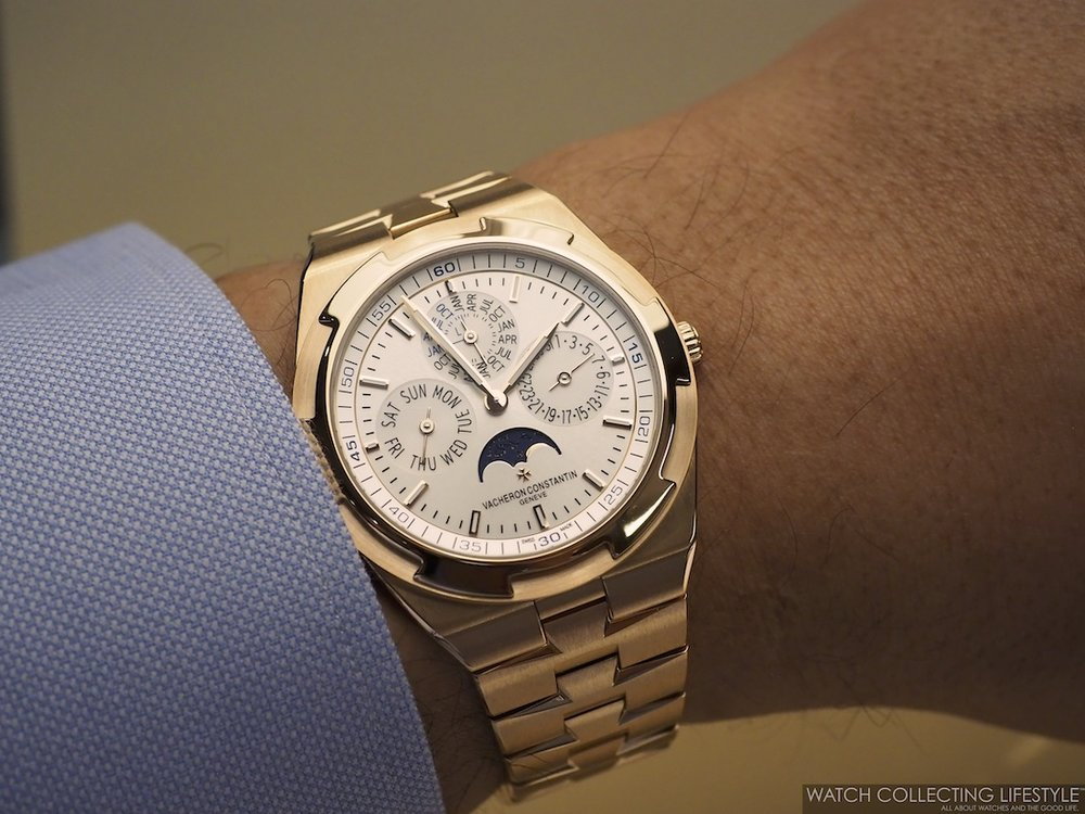 Vacheron Constantin Overseas Ultra-Thin Perpetual Calendar ref. 4300V Wristshot on Bracelet