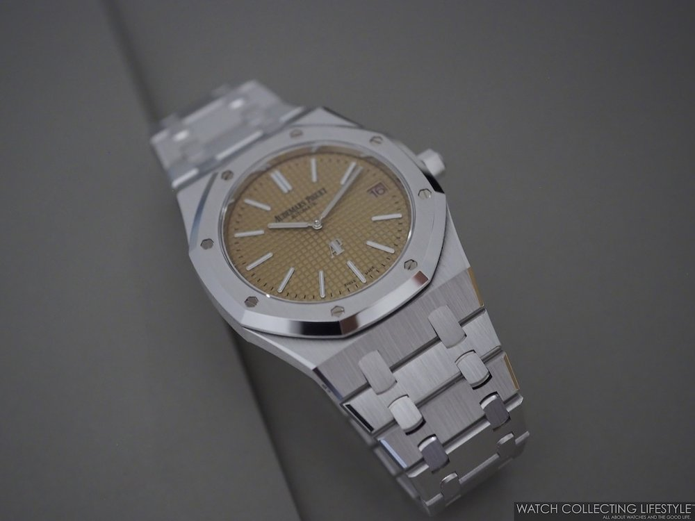 Audemars Piguet Royal Oak Extra-Thin White Gold ref. 15202BC Pink Toned Dial