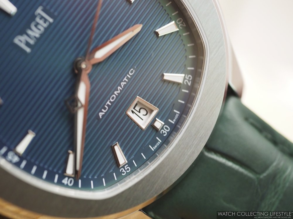 Piaget Polo S Blue Green Dial WCL4