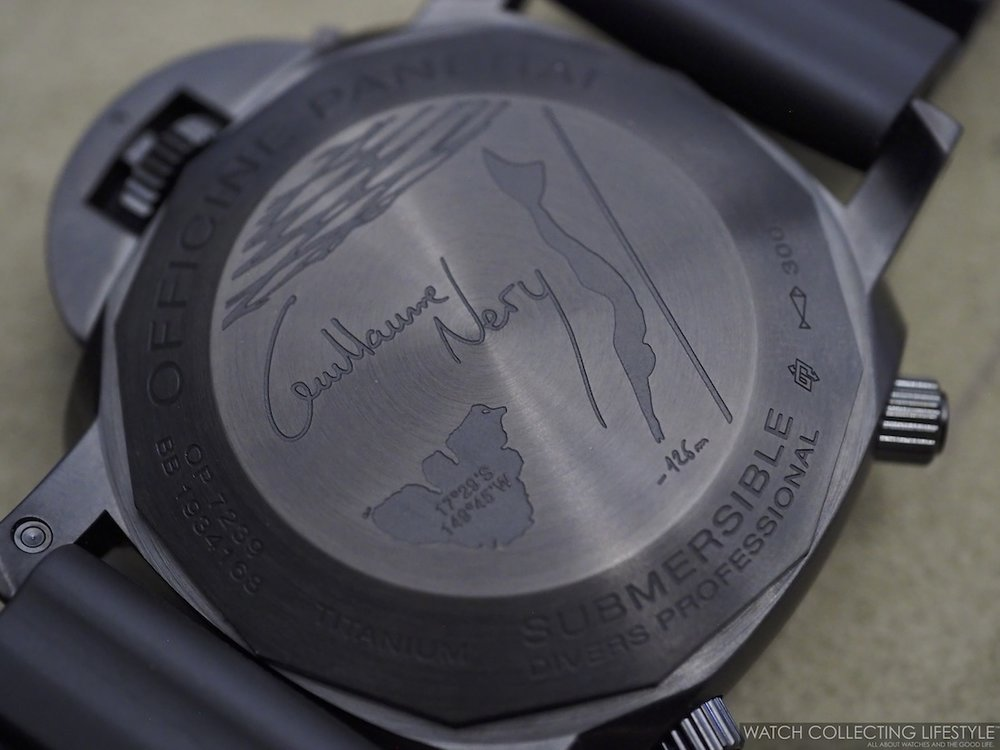 Panerai Submersible Chrono Guillaume Néry Edition 47 mm PAM983 Caase Back